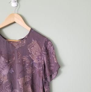 "Wilfred Tops - Aritzia Wilfred 100% silk ""Cypres""  blouse medium"
